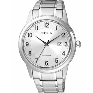 Citizen Mens Eco Drive Silver Sports Watch AW1231-58B