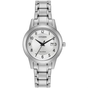 Citizen Ladies Eco-Drive Silver Dial Everyday Watch FE1081-59B
