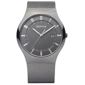 Bering Mens Grey Solar Powered Classic Watch 14640-077