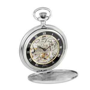 Woodford Silver Open Back Pocket Watch 1108
