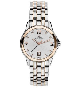 Michel Herbelin Ambassador Woman's City Two Tone Watch 14250/BTR89