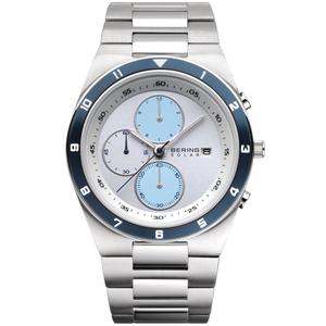 Bering Mens Solar Powered Chronograph Watch 34440-707