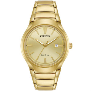 Citizen Mens Eco Drive Gold Paradigm Watch AW1552-54P
