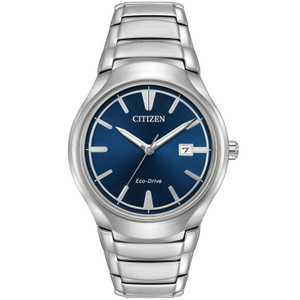 Citizen Mens Eco Drive Silver Paradigm Watch AW1550-50L