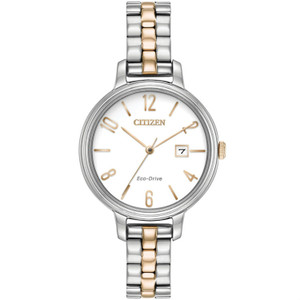 Citizen Ladies Eco Drive White Dial Bracelet Watch EW2446-57A