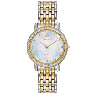 Citizen Ladies Swarovski Eco Drive Silhouette Watch EX1484-57D