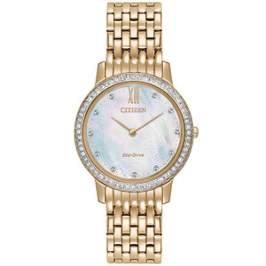 Citizen Ladies Swarovski Eco Drive Silhouette Watch EX1483-50D