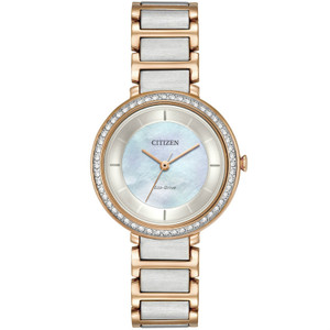 Citizen Ladies Swarovski Eco Drive Silhouette Watch EM0483-89D