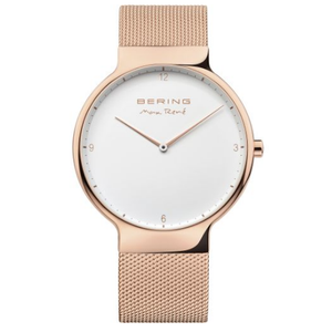 Bering Mens Max Rene Designed Rose Gold Stainless Steel Watch 15540-364