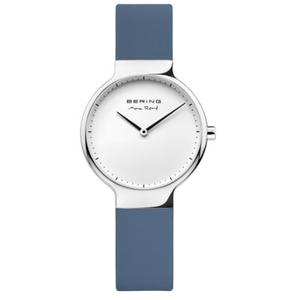 Bering Ladies Max Rene Designed Blue Rubber Watch 15531-700