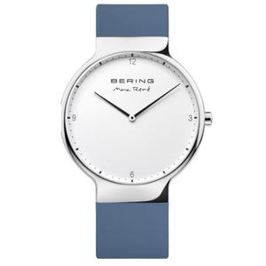 Bering Ladies Max Rene Designed Blue Rubber Watch 15540-700