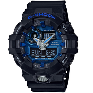 G-Shock Blue Dial Analogue Digital World Time Chronograph Watch GA-710-1A2ER