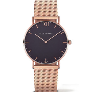 Paul Hewitt Unisex Navy Blue Dial And Rose Gold Bracelet Watch PH-SA-R-SM-B-4M