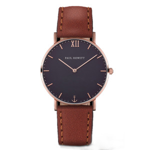 Paul Hewitt Sailor Line Unisex Navy Blue Dial And Brown Leather Strap Watch PH-SA-R-ST-B-1M