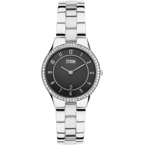 STORM Slim X Crystal Black Ladies Watch