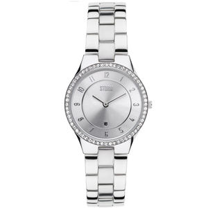 STORM Slim X Crystal Silver Ladies Watch