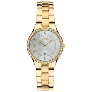 STORM Slim X Crystal Gold Ladies Watch