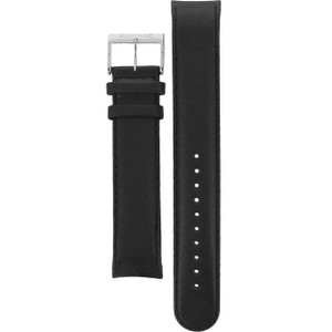 Mondaine Replacement Watch Curved Strap Black Genuine Leather 22mm FE23122.20Q With Free Pins