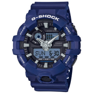 G-Shock Blue Analogue Digital World Time and Chronograph Watch GA-700-2AER