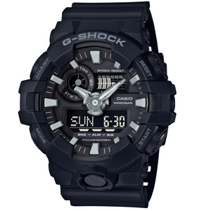 G-Shock Black Analogue Digital World Time and Chronograph Watch GA-700-1BER