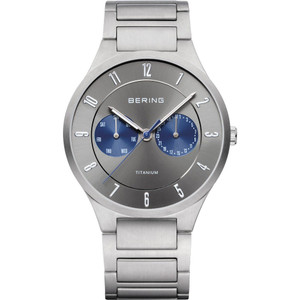 Bering Men's Titanium Sapphire Glass Date Display Watch 11539-777