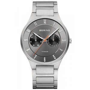 Bering Men's Titanium Sapphire Glass Grey Date Display Watch 11539-779