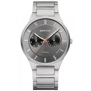 Bering Men's Titanium Sapphire Glass Grey Date Display Watch 11539-779
