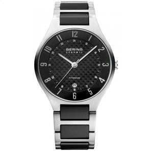Bering Men's Two Tone Titanium and Ceramic Watch 11739-702
