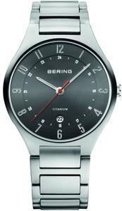 Bering Men's Titanium Date Display Grey Dial Watch 11739-772