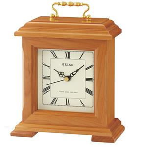 Seiko Wooden Radio Controlled Quartz Mantle Clock QXR304B