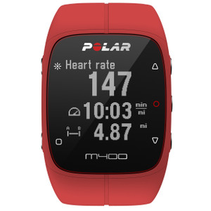 Polar Red M400 GPS Running Watch 90061177 with Heart Rate Sensor