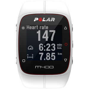 Polar M400 GPS Running Watch White 90051347 with Heart Rate Sensor