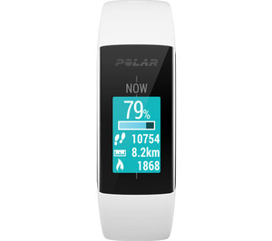Polar A360 White HR Activity Tracker (Small) 90057433