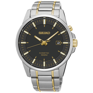 Seiko Kinetic Date Display Stainless Steel Watch SKA735P1