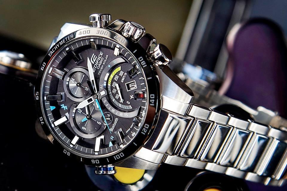 1ea166eecf4 ... ba7e6 b2720 Casio Edifice Bluetooth Tough Solar Black Dial Watch EQB -501XDB-1AMER.