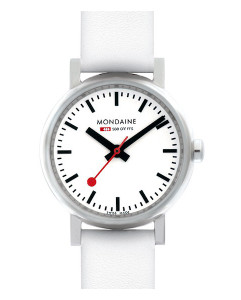 Mondaine Evo Petite Ladies White Strap Small Size Watch A658.30301.11SBN