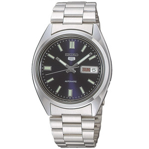 Seiko 5 Men's Automatic Blue Dial Stainless Steel Watch SNXS77
