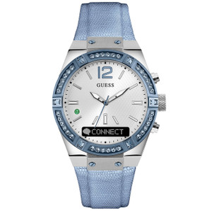 Guess Ladies Connect Bluetooth Hybrid Crystal Watch C0002M5