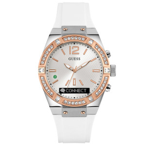 Guess Unisex Connect Bluetooth Hybrid White Crystal Watch C0002M2