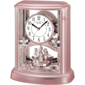 Rhythm Mantel Rose Gold Clock 4RH741WS13