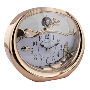 Rhythm Mantel Clock Rose Gold Colour With Pendulum 4SG719WD13