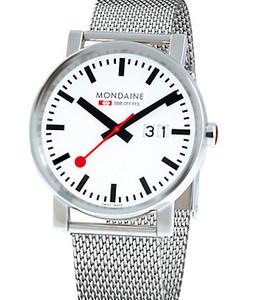 Mondaine Evo Date Ladies Mesh Bracelet Medium Size Watch A669.30305.11SBM