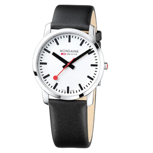 Mondaine Simply Elegant Gents Black Strap Slim Watch A638.30350.11SBB