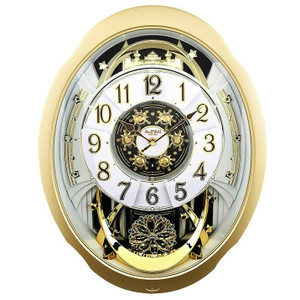 Rhythm Marvelous Magic Motion Clock Rotating Penddulum Wall Clocks 4MH842WD18