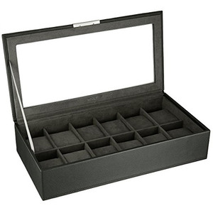 Wolf Stackable Watchbox For Up To 12 Watches In Black 309803