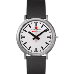 Mondaine Stop-2-Go 2-Second Pause Black Strap Watch A512.30358.16SBB [Special Edition]
