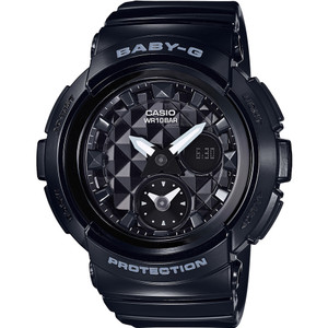 Baby-G Analogue and Digital Dual Dial World Time in Black BGA-195-1AER