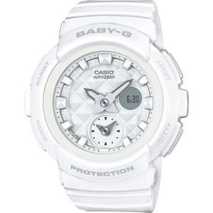 Baby-G Analogue and Digital Dual Dial World Time in White BGA-195-7AER