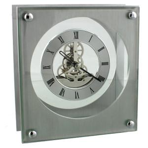Widdop Skeleton Dial Square Mantel Clock W2611