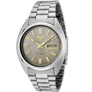 Seiko 5 Men's Automatic Silver Dial Stainless Steel Watch SNXS75K